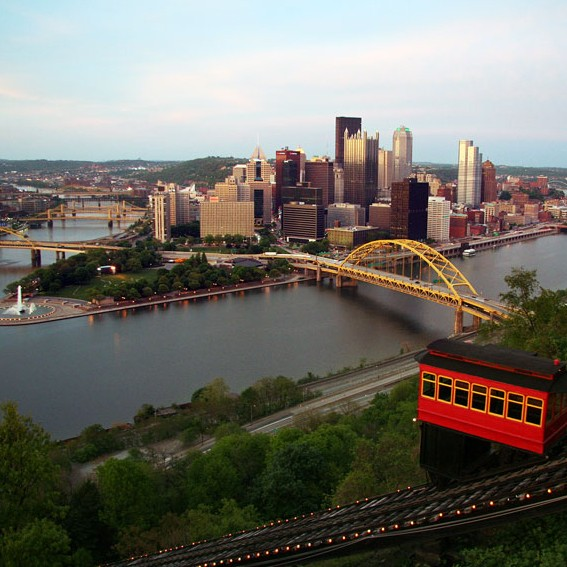 Pittsburgh Skyline and Duquesne Incline