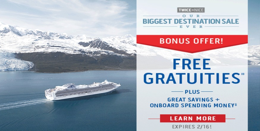 Princess Cruise Twice as Nice Sale
